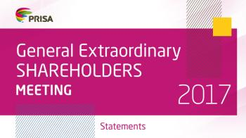 General Extraordinary Shareholders Meeting speech 2017